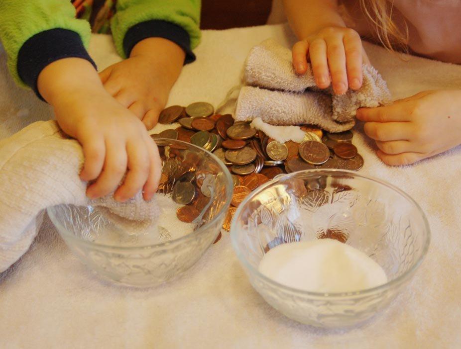 Как чистить медные монеты в домашних условиях